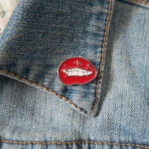 Jewelry - Sexy Lip Bite Enamel Pin